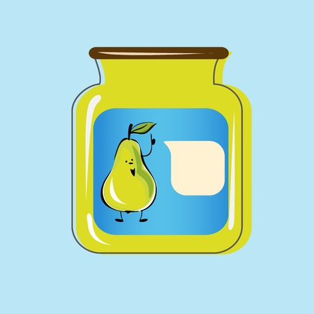 food preservation: Bank with home canned pears