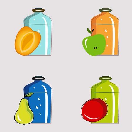long term: Set frascos con verduras y frutas en conserva