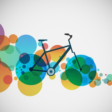 Bicycle on a background of bright beads