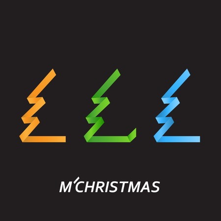 winter holidays: Christmas tree for celebrating the winter holidays