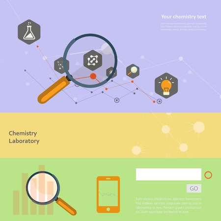 Set of flat design concepts for web and printing. Vector