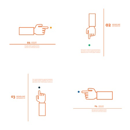 Set of vector hand with index finger Vector
