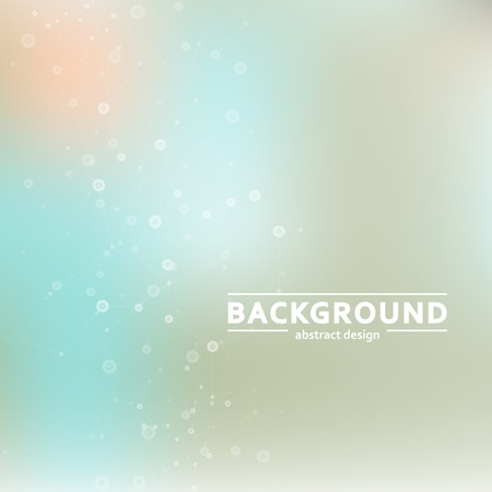 Vector background blur with a molecular structure Vector