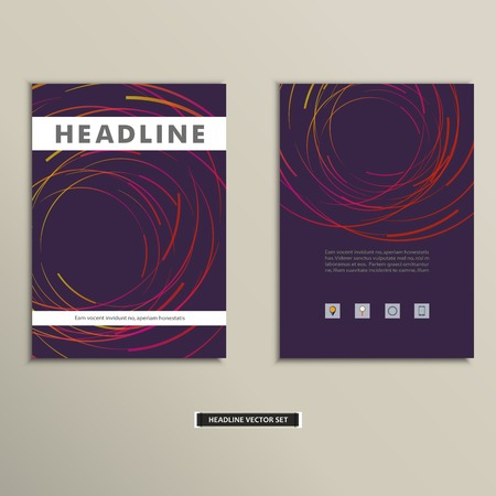 endlessly: Book cover with abstract colored lines and circles