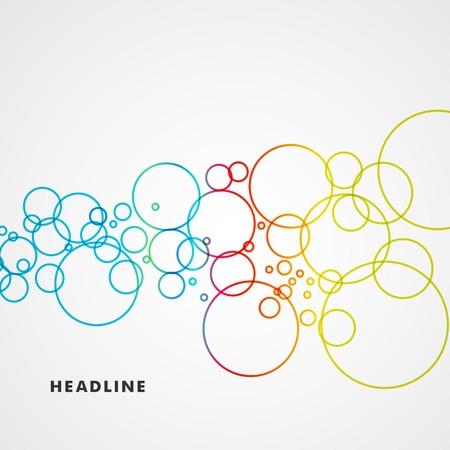 Mooie gekleurde cirkels op een lichte achtergrond Stock Illustratie