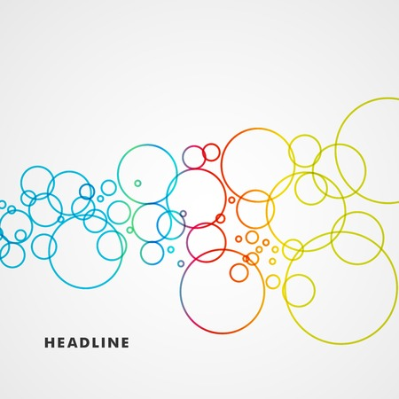 Beautiful colored circles on a light background Illustration