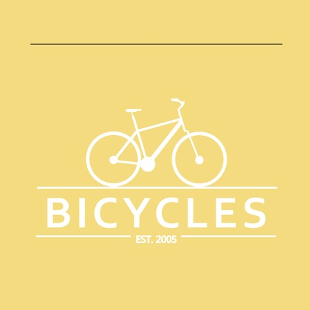 old stamp: Simple flat vector images bike on the background Illustration