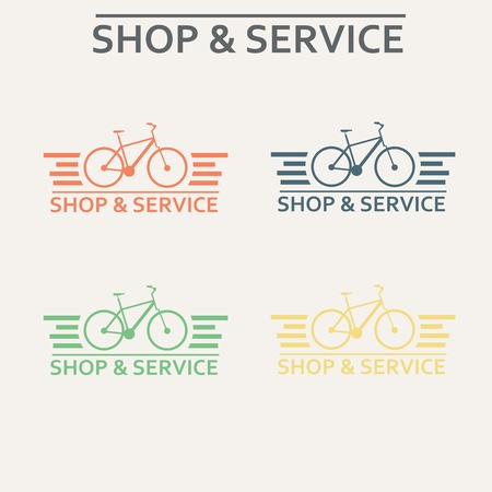 vector images: Simple flat vector images bike on the background Illustration