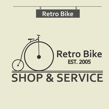 Simple flat vector images bike on the background Illustration