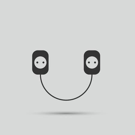 plug socket: Wire, socket and electric plug vector design Illustration