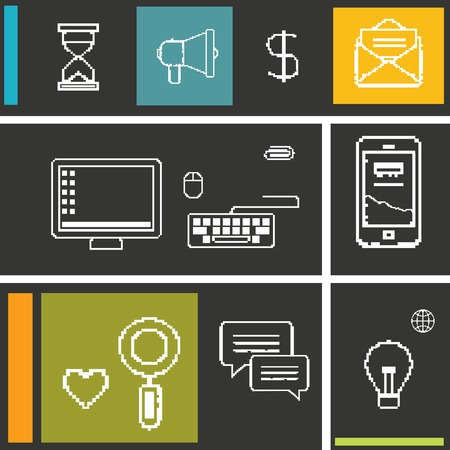business communication: Set icons for business, internet and communication.
