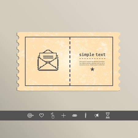 Simple stylish pixel icon envelope. Vector design.