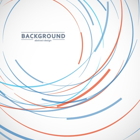 Vector abstract color line and circle background.