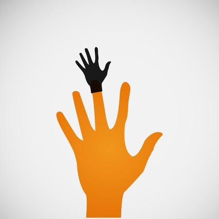 Vector flat icon hands. color abstraction eps Vector