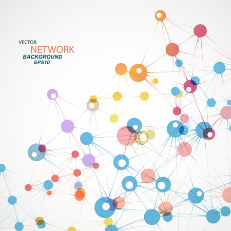 Vector network connection and DNA eps 10