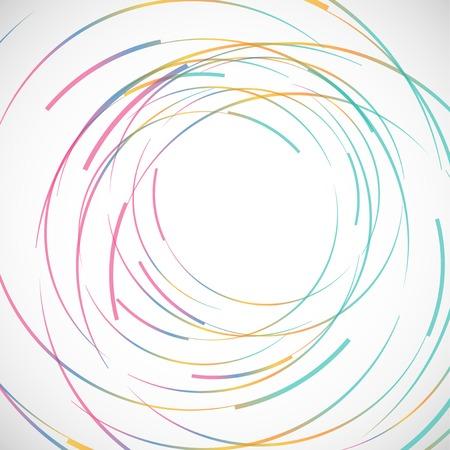 endlos: Vector abstrakte Farblinie und Kreis Hintergrund