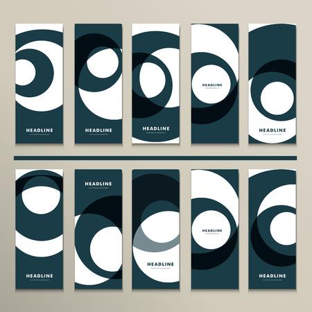 figuras abstractas: Diez vector patrón con figuras abstractas folletos