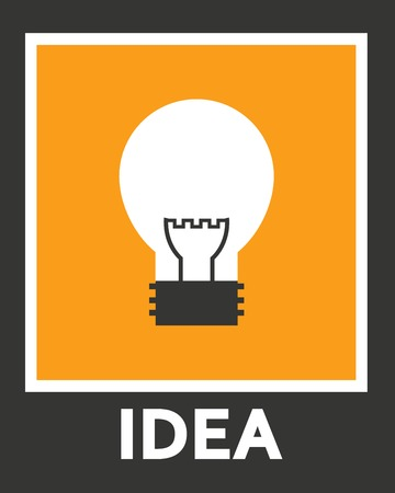 electro: Simple stylish icon bulb. Vector electro design.