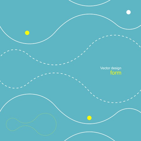 dotted lines: Abstract background of dotted lines and balls
