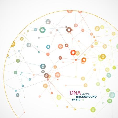 Network achtergrond met een moleculaire structuur eps Stock Illustratie