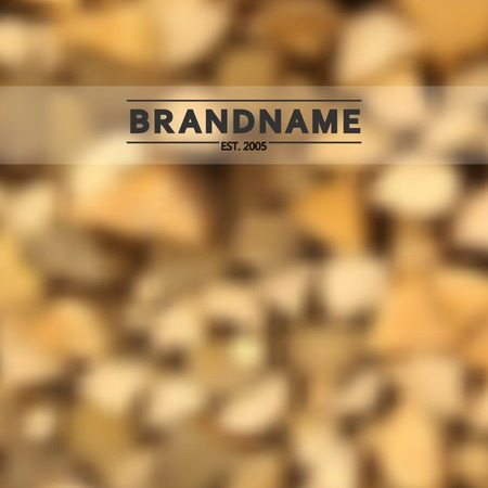 fire wood: Blurred background vector of stacked fire wood