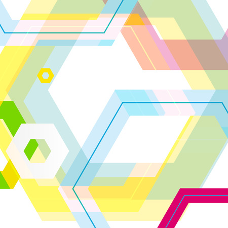 Vector background of large colored hexagons eps Vector