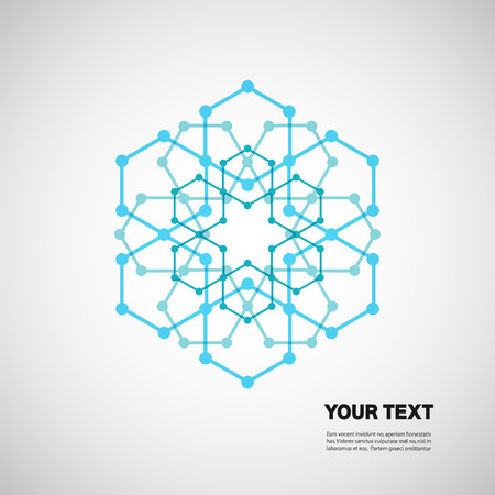 Set for design in molecules abstract style Vector