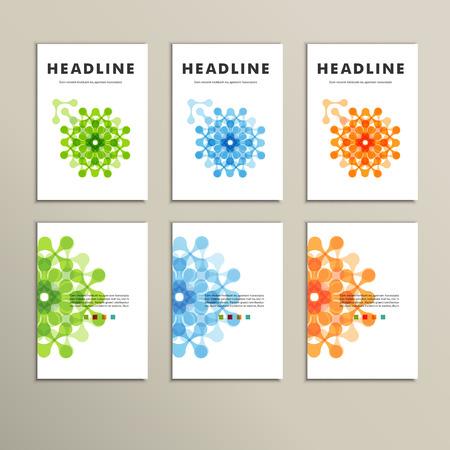 Set van zes covers met abstracte patronen Stock Illustratie