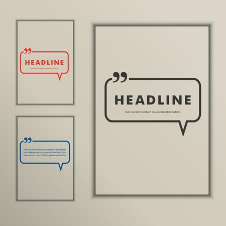Set banners met tekstballonnen op een eenvoudige omslag