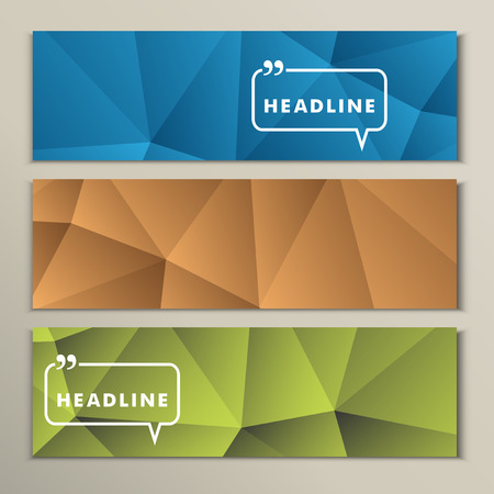 Set abstract backgrounds blue green and yellow.