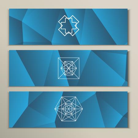 brink: White geometric shapes on a triangular background.