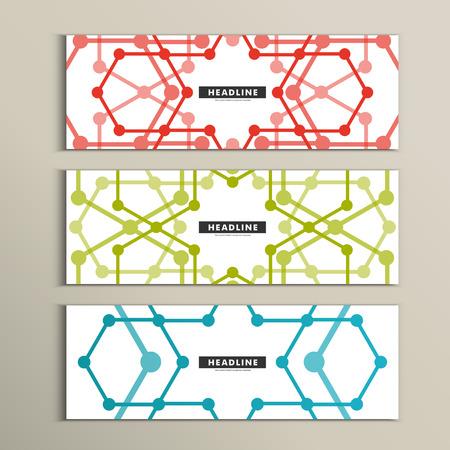 Vector set of stylish modern line textures.