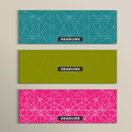 illustrate i: Vector set of stylish modern line textures.
