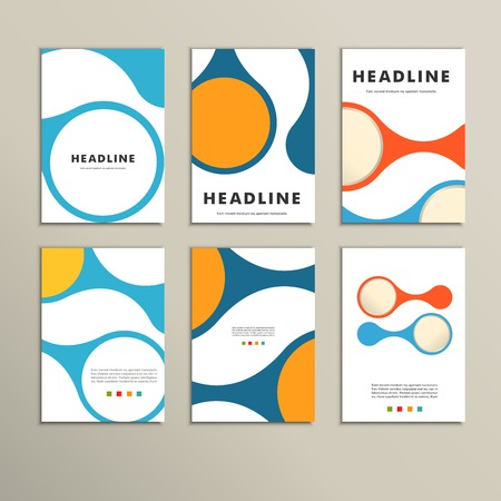 figuras abstractas: Set of covers with vector abstract figures.