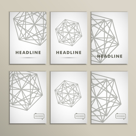 Vector geometric shapes on a white background.