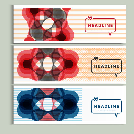 Set of six covers with abstract patterns. Illustration