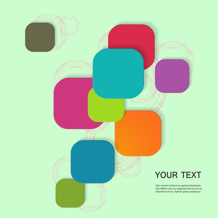 background textures: Vector color square connection