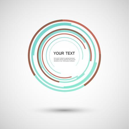 installer: Vector color line twirl design.