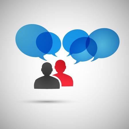 personas dialogando: La gente habla de diálogo Vector