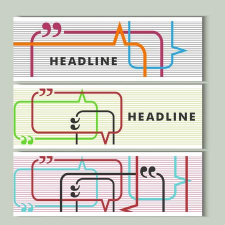 conversational: Set vector color lines with conversational bubble.