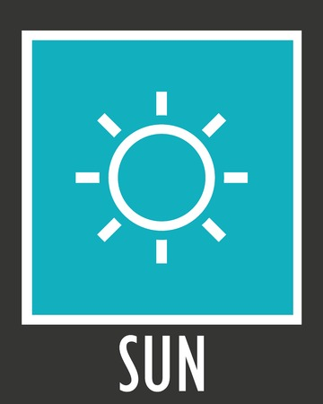 suns: Vector simple icons sun rays with short.