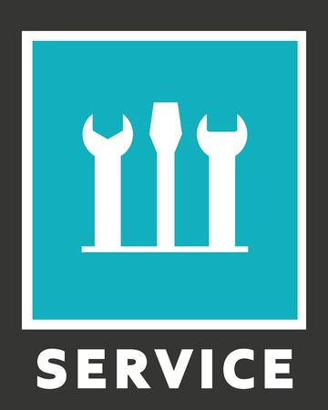 Vector icons of service. Screwdriver and spanner.