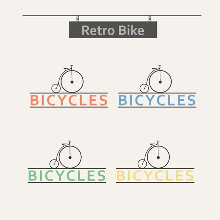 vector images: Simple flat vector images bike on the background.