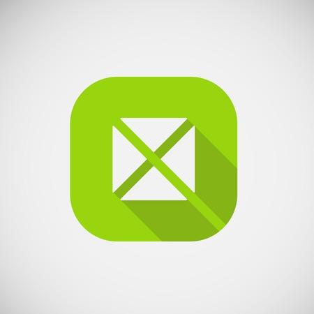 trendy: Modern trendy square icon. Vector eps10.