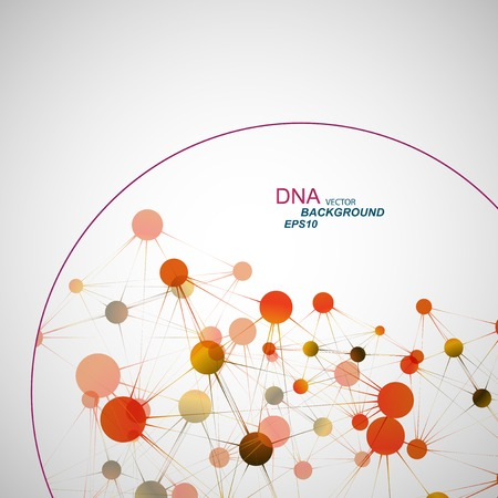 medical abstract: Vector network connection and DNA eps10. Illustration