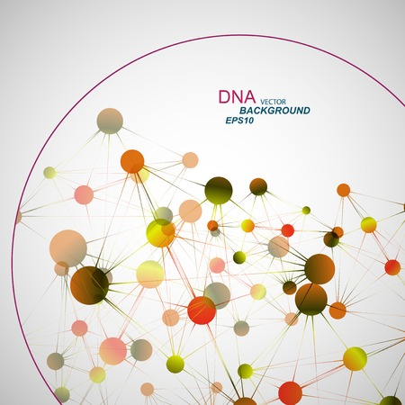 Vector network connection and DNA eps10. Illustration