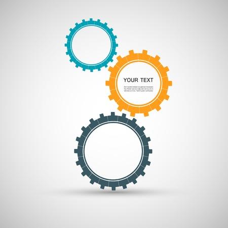 grease: Vector color design concept gears.
