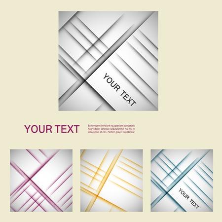 wallpaper: Vector set color line elements.