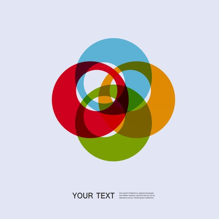abstracte vormen: Color round abstract forms  . Stock Illustratie