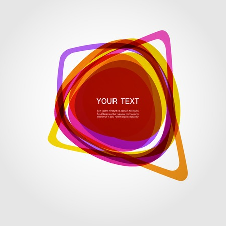 color design: Abstract vector form. Color line design  .
